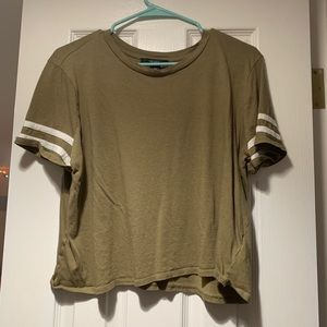 Olive green, Forever 21, Crop top